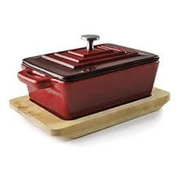 CAÇAROLA COM TAMPA RECTANGULAR 13*19CM MAGMA RED LACOR 25855