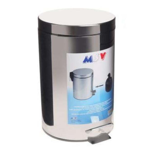 BALDE LIXO INOX 20L.COM PEDAL