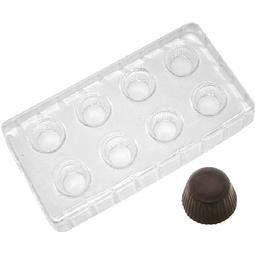 MOLDE CHOCOLATE PLASTICO CANELADO
