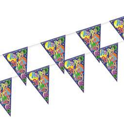 GRINALDA COM BANDEIRA PLÁSTICA 4M HAPPY BIRTHDAY