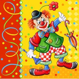20 GUARDANAPOS PAPEL 33*33CM CLOWN