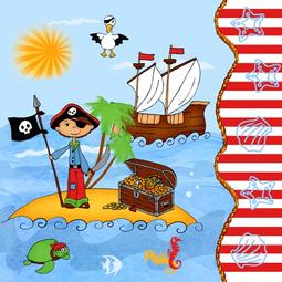 20 GUARDANAPOS PAPEL 33*33CM PIRATE ISLAND