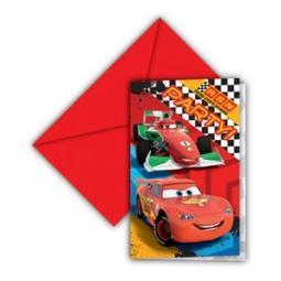 6 CONVITES CARS 97634