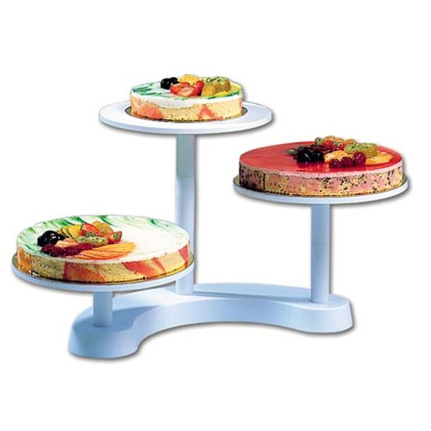 CAKE STAND BUFFET 3 ANDARES PLAST. BR