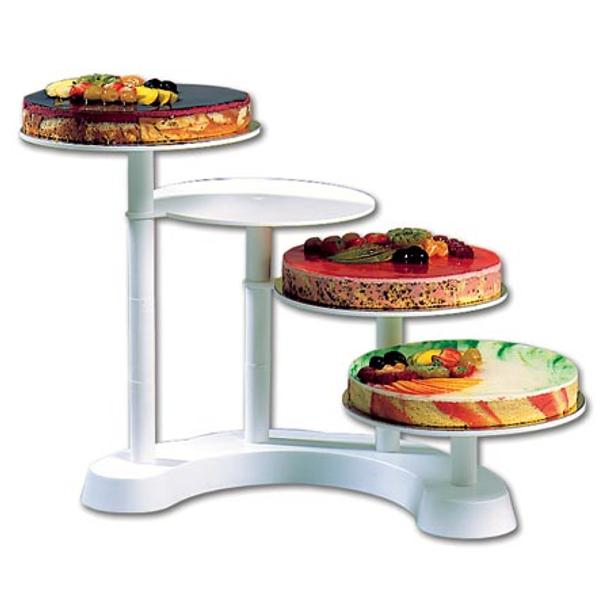 CAKE STAND BUFFET 4 ANDARES PLAST. BR.
