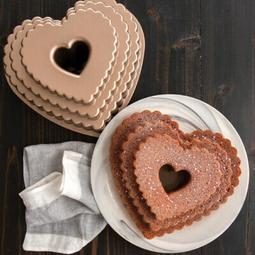 FORMA TIERED HEART BUNDT 89937FUR NORDIC WARE
